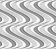 Stylish 3d Pattern. Background With Paper Like Perforated Effect. Geometric Design.Perforated Paper With Vertical Striped And Solid Waves