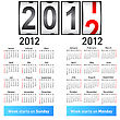 Stylish German Calendar For 2012. In German And English.