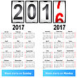 Stylish German Calendar For 2017. In German And English