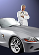 Successful Doctor & Car stock photography
