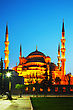 Sultan Ahmed Mosque (Blue Mosque) In Istanbul At The Night Time stock photo