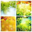Summer And Autumnal Assorted Backgrounds Set For Your Design stock illustration