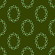 Summer Green Leaves Isolated On Green Background. Seamless Leaves Pattern