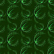 Summer Leaves Isolated On Green Background. Seamless Grass Pattern