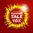 Summer Sale Vector Background Illustration With Rounded Lines Background