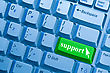 Support Word On Computer Keyboard Key Showing Assistance Concept stock image