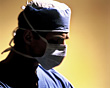 Hospital Surgeon with Surgical Mask stock image