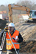 Surveyor On A Building Site stock image