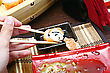 Orient Sushi And Chopsticks Close Up Japan Food stock photography