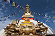 Holy Swayambhunath Is An Ancient Religious Complex Atop A Hill In The Kathmandu Valley stock photo