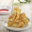Sweet Asian Cookies With Sesame Seeds stock photo