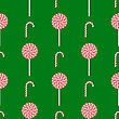 Sweet Candy Isolated On Green Background. Seamless Pattern