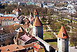 Tallinn, Towers And Walls Of Old City stock photography