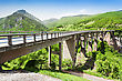Tara Bridge Is A Concrete Arch Bridge Over The Tara River In Montenegro stock image