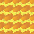 Tasty Cheese Seamless Pattern. Yellow Food Backround. Made From Cows Milk. Natural Product