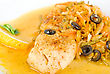 Tasty Fish Pike Perch With Mix Of Vegetables stock image