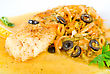 Tasty Fish Pike Perch With Mix Of Vegetables stock photography