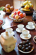 Tea, Cups And Sweets On The Table stock image