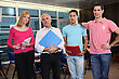 Teacher Stood With University Students stock photography