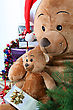 Teddy Bears At Christmas stock photo