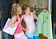 Teenage Girls Clothes Shopping stock photo
