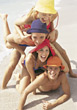 Teenagers Having Fun on the Beach stock image