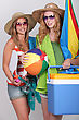 Teenagers In Beach Wear stock photo