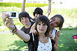 Teens Photographing stock photography