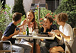 Teens Talking and Homework stock photo