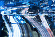 Tel Aviv At Night, Crossroad Traffic, Tel Aviv HaShalom Railway Station