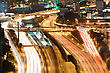 Tel Aviv At Night, Crossroad Traffic - Tel Aviv HaShalom Railway Station