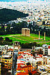 Temple Of Olympian Zeus In Athens, Greece On An Overcast Day stock image