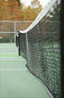 Tennis Tennis Net in the Fall stock photo