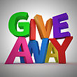 """Text """"Giveaway"""" Made From Multicolored Letters"""