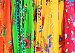 Textile Background - Set Of Colorful Textile Fabrics stock photo