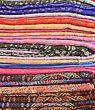 Textile Background - Set Of Colorful Textile Fabrics stock photography