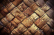 Texture Background Plaited Bast stock photo
