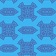 Texture On Blue. Element For Design. Ornamental Backdrop. Pattern Fill. Ornate Floral Decor For Wallpaper. Traditional Decor On Blue Background