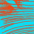 Texture Blue Wall With Bloody Red Stains. Vector Illustration