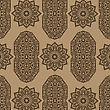 Texture On Brown. Element For Design. Ornamental Backdrop. Pattern Fill. Ornate Floral Decor For Wallpaper. Traditional Decor On Background