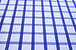 Checkered Texture Of Cotton Fabric As Abstract Background. stock photo