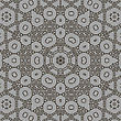 Texture On Grey. Element For Design. Ornamental Backdrop. Pattern Fill. Ornate Floral Decor For Wallpaper. Traditional Decor On Background