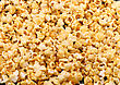 Texture Of Caramel Popcorn. Close-up View
