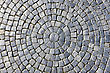 Texture Of Cobblestone In Old Town stock photography