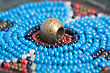 Small Texture. Part Of The Authentic Indian Beaded Fashion stock photography