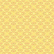 Texture On Yellow. Element For Design. Ornamental Backdrop. Pattern Fill. Ornate Floral Decor For Wallpaper. Traditional Decor On Background