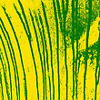Texture Yellow Wall With Green Streaks Stains. Vector Illustration