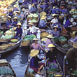 Thailand, Floating Farmers Market stock photography