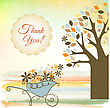 Thank You Card stock vector