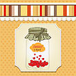 Thank You Greeting Card With Hearts Plugged Into The Jar